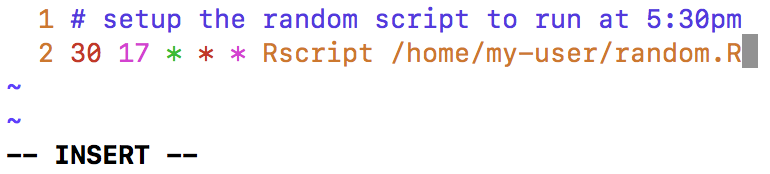 Automating R Scripts with Cron